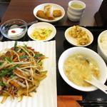 中華料理 旭園 - レバー炒めセット
