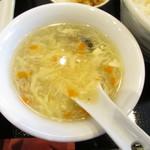 中華料理 旭園 - 玉子スープ