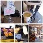 リボリ - 広いカフェコーナーがありますので、そこで休憩。 珈琲も販売されていて、100円でした。