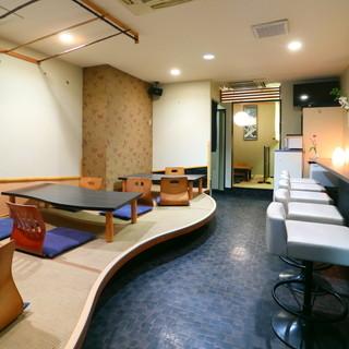 ゆったりくつろぎながらお食事を楽しめる和の空間!!