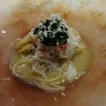 51341039 - 【16年3月】「「ふのり」を練り込んだタリオリーニ 毛蟹のほぐし身 涼やかに」
