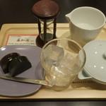 51343836 - 伊勢深蒸し茶と羊羹