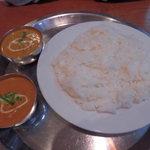 インドネパール料理 ナンカレーハウス - ナンカレーハウスセット1280円 ライスバージョン