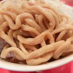 ラーメン二郎 - 麺(今までで最も太い!)
