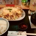 カフェ&レスト 潮騒 - スペシャル肉野菜定食。