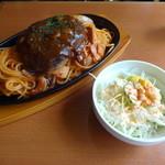 喫茶シャトー - 160514 シャトウ③ハンバーグナポリタン1050円(税込)