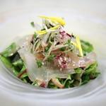 51350430 - 平目の昆布〆と五色野菜のサラダ仕立て