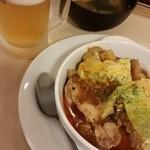 松屋 - ケイジャンチキン。ビールに合う~(≧▽≦)