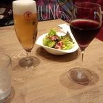 洋食屋 銀座グリルカーディナル - 生ビール(648円)+赤ワイン(648円)
