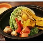 51355066 - 野菜のオーブン焼き ~バーニャソース~