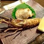 寿司・創作居酒屋 四六八ちゃ - ○焼物、ガス海老様の塩焼き&ノドグロ塩焼き様!シャクッとした食感の残るソフトシェルでこれ相当旨い♪