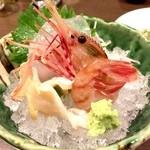 寿司・創作居酒屋 四六八ちゃ - ○お造り、甘エビ様はかなり大ぶりですがさっきの白海老様とどうしても比べてしまいますねw
