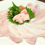 寿司・創作居酒屋 四六八ちゃ - ○お造り、カワハギ様は肝をポン酢に溶いていただく鉄板の旨さです!