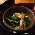 旬菜 和彩美 - おひたし(しめじ、えのき、人参、ほうれん草)