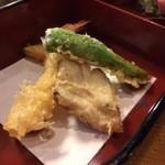 旬菜 和彩美 - 揚げ物(海老、穴子、オクラ、南瓜)