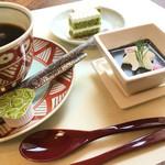 日本料理 ちくま庵 - 食後にコーヒーとデザート