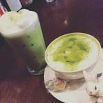 Cafe de 武 - マンスリーメニュー マシュマロ抹茶ラテ