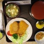 藤屋食堂 - ミックスフライ定食