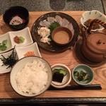 51377362 - 〈お昼の献立その1〉鯛茶漬け定食900円