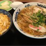 大村庵 - 玉子丼ラーメンセット