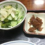 精養軒 - 炒飯セット¥600に付いて来るサラダと生姜煮