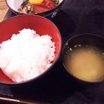九州 熱中屋 - ご飯・味噌汁