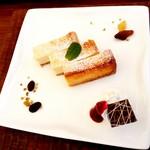 花カフェきゃろっと - 濃厚ベイクドチーズケーキ 単品450円 セット400円 2016/05