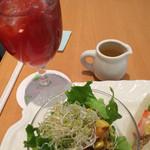 京橋千疋屋 - ドリンクはアイスフルーツティー