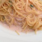 Creative Dining SAZIO - 小海老と明太子のクリームパスタ