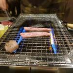 アカツキ焼肉店 - 3種盛りの霜を・・