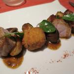 51392190 - やまがた豚肉のロースト ブーダンノワールのコロッケ