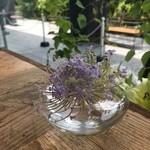 ル・シュクレクール - 2016年5月2度目の訪問 店内の花