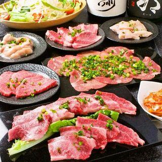 焼肉と浜焼きコース3500円