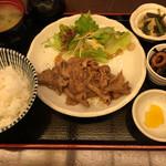 多慶家 - しょうが焼き定食(800)