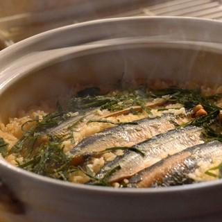 【要予約】人気の炊き込みご飯は土鍋炊き