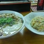 51399550 - 尾道ラーメン+半チャーハンセット 840円