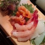 かわなみ鮨 - 鯵たたき・赤貝・甘えび・墨いか