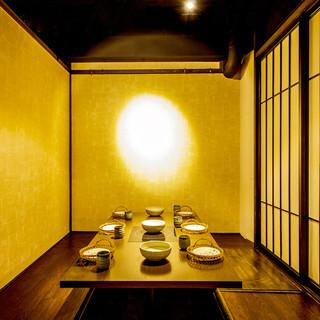 落ち着きのある和モダン個室空間でご宴会をお愉しみ下さい!