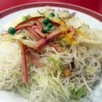 山珍居 - 「お米で作ったソバ、食べなれるとまことに美味なもの」