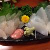 酒蔵北の誉 - 料理写真:カワハギ刺  甲イカ刺