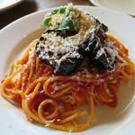 51407648 - 茄子とトマトソース リコッタチーズ ノルマ風スパゲッティ
