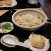 麦福 - 料理写真:ぶっかけうどん 冷 + 半熟たまご天☆