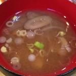 カラコマ - ごぼうと玉ねぎの味噌汁