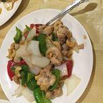 中国家庭料理 楊 - 鶏とカシューの炒めたの。旨い。