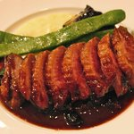 オルディネール - 合鴨ロースト上茶路・ブルーベリーのソース(柔らかくて絶品)2010年9月16日