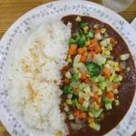 カレー風味すずき - 鶏肉と野菜のカレー¥780➕ジャンボ¥300➕税=¥1166 極辛