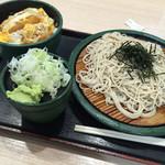 ゆで太郎 船橋南口店 - カツ丼セット650円(^∇^)