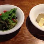 カレーキッチン タキザワ - サラダとポテト
