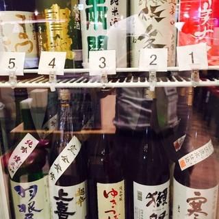 地酒どれでも(グラス)380円均一