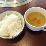 Ogawatei - カルビランチライスとスープ♪